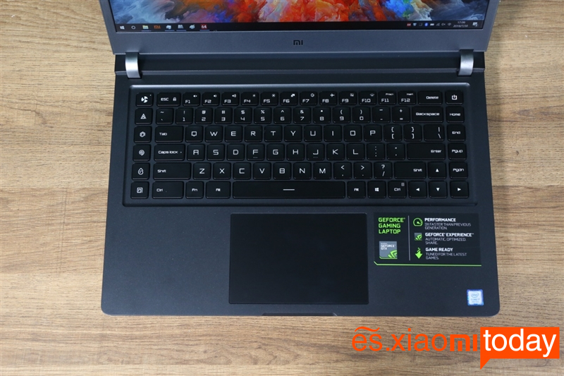 Xiaomi Gaming Laptop Análisis: teclado