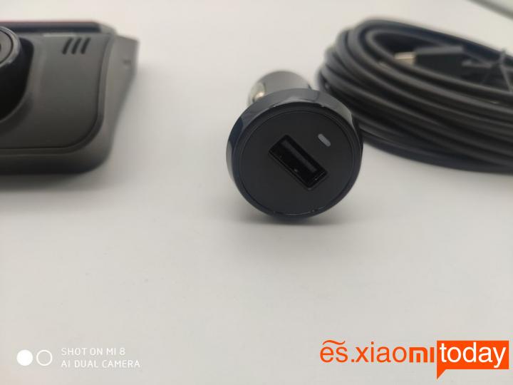 Xiaomi YI mini Dash Camera Análisis: Alimentación