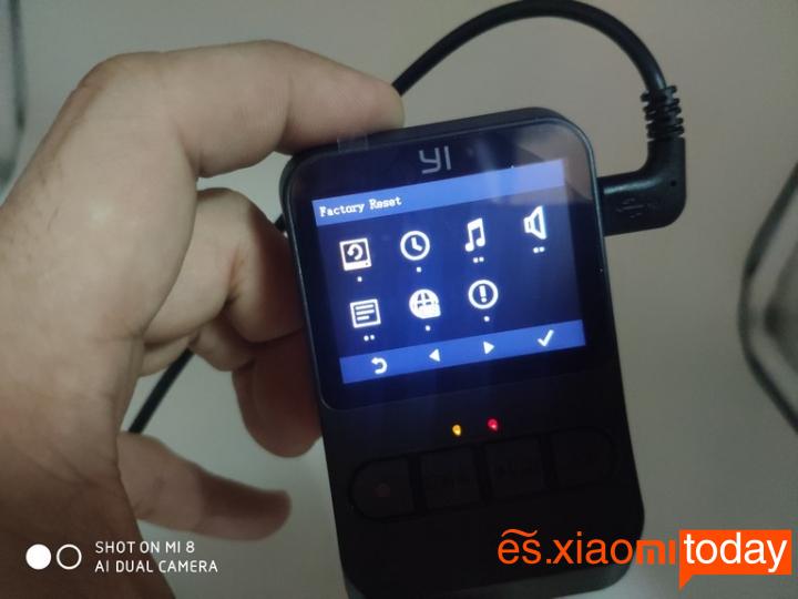 Xiaomi YI mini Dash Camera Análisis: Conectividades