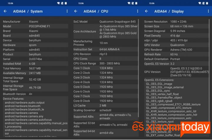 Xiaomi Pocophone F1 Análisis - Hardware y rendimiento