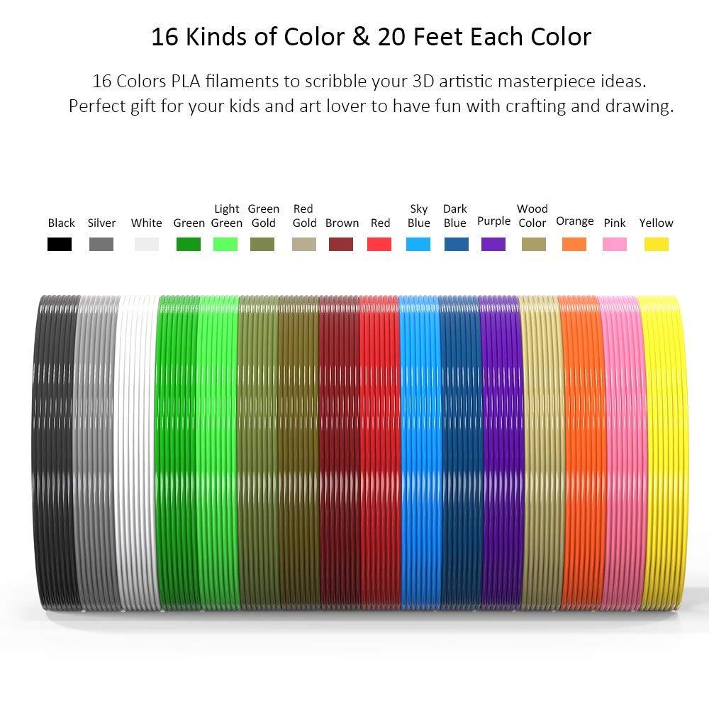 Filamentos de impresión 3D colores