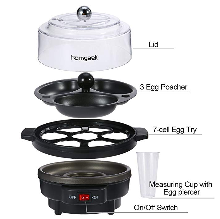 Homgeek Electric Egg Cooker: Design and construction