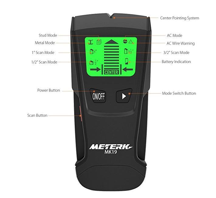 Detector de cables y tuberías Meterk MK19