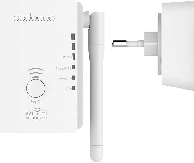 Dodocool 3 en 1 N300 Mini Wireless Range Extender Medidas