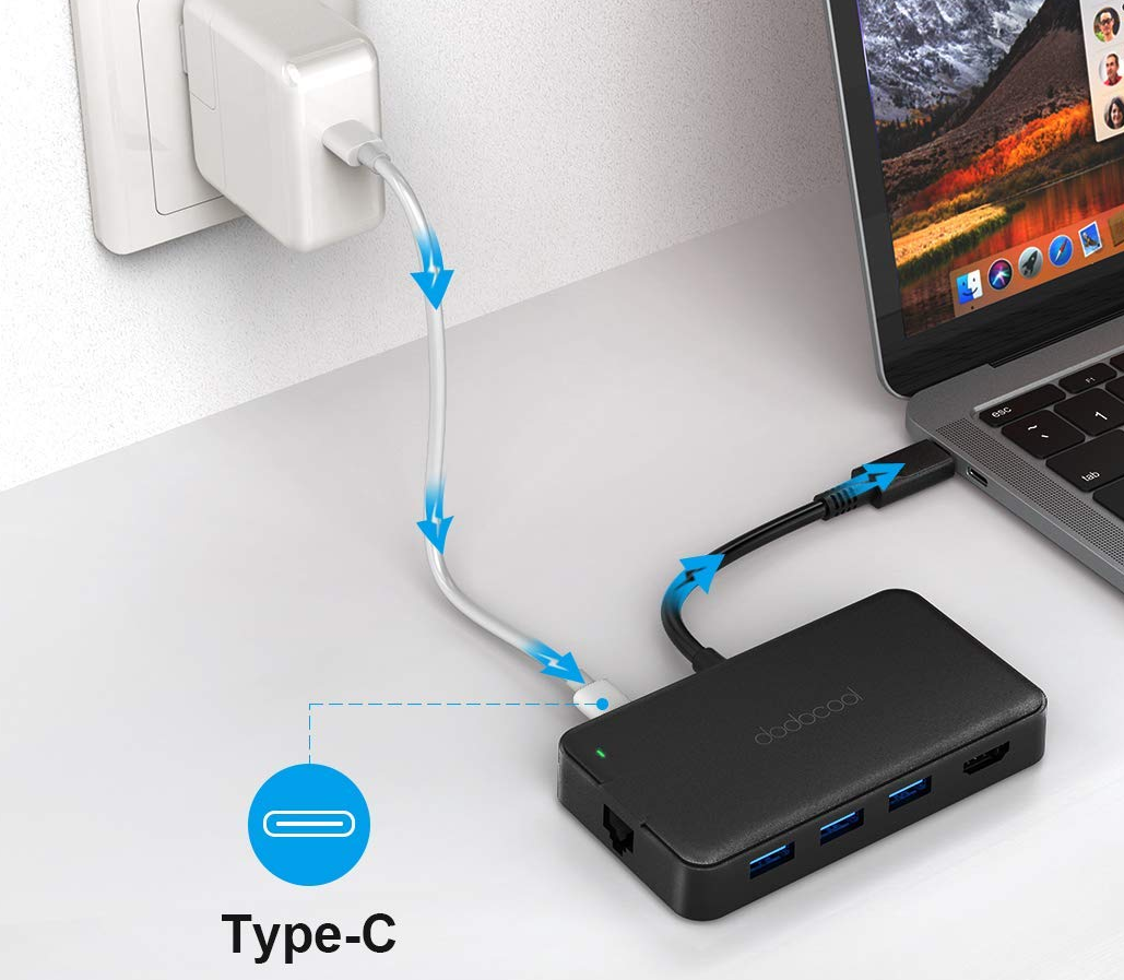 Dodocool 7 in 1 USB Hub