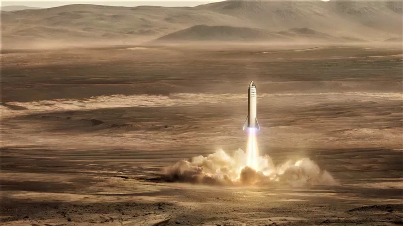 Elon Musk Big Falcon Rocket