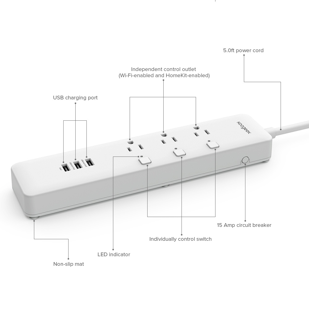 Koogeek Smart Outlet diseño