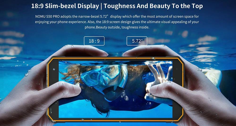 NOMU S50 Pro pantalla