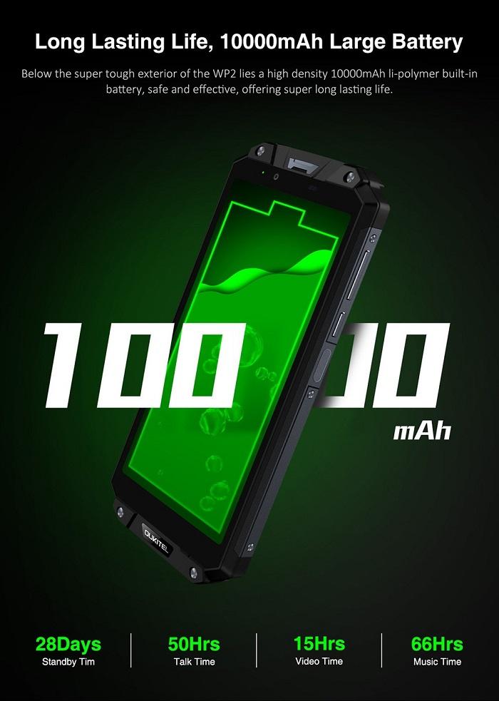 Oukitel WP2 batería