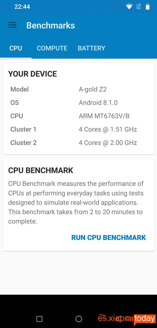Umidigi Z2: Hardware y rendimiento