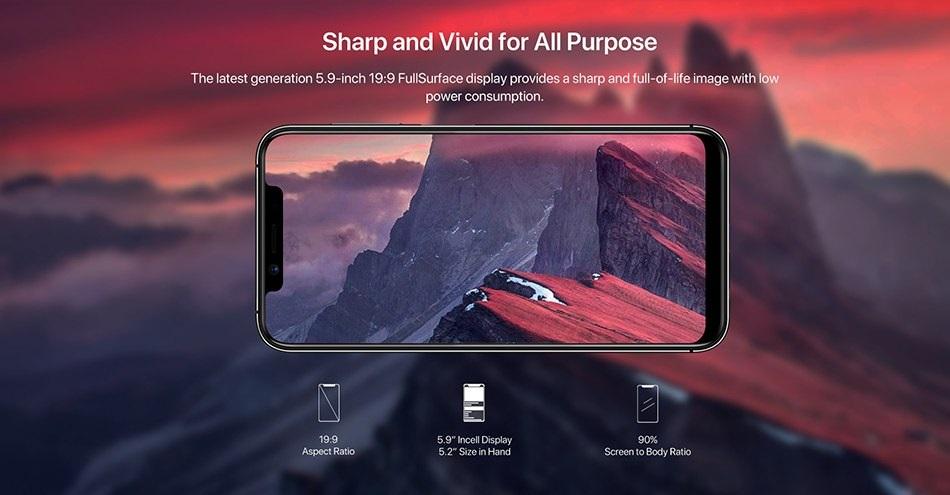 UMIDIGI One Pro pantalla