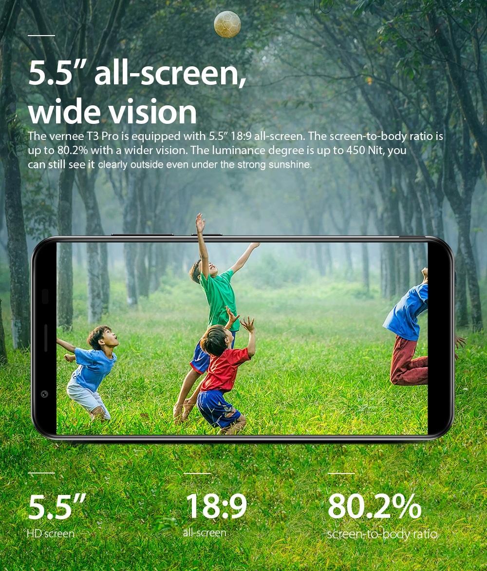 Vernee T3 Pro pantalla
