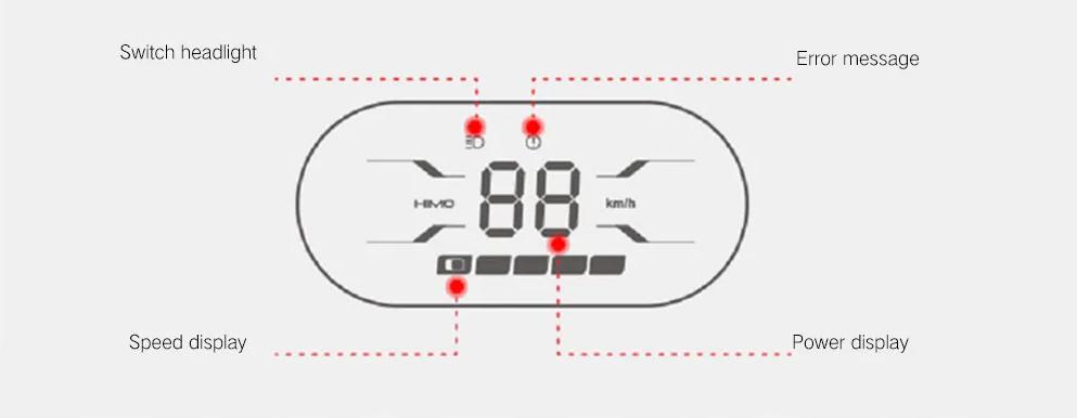 Xiaomi HIMO H1 Smart Folding Electric Bike Pantalla