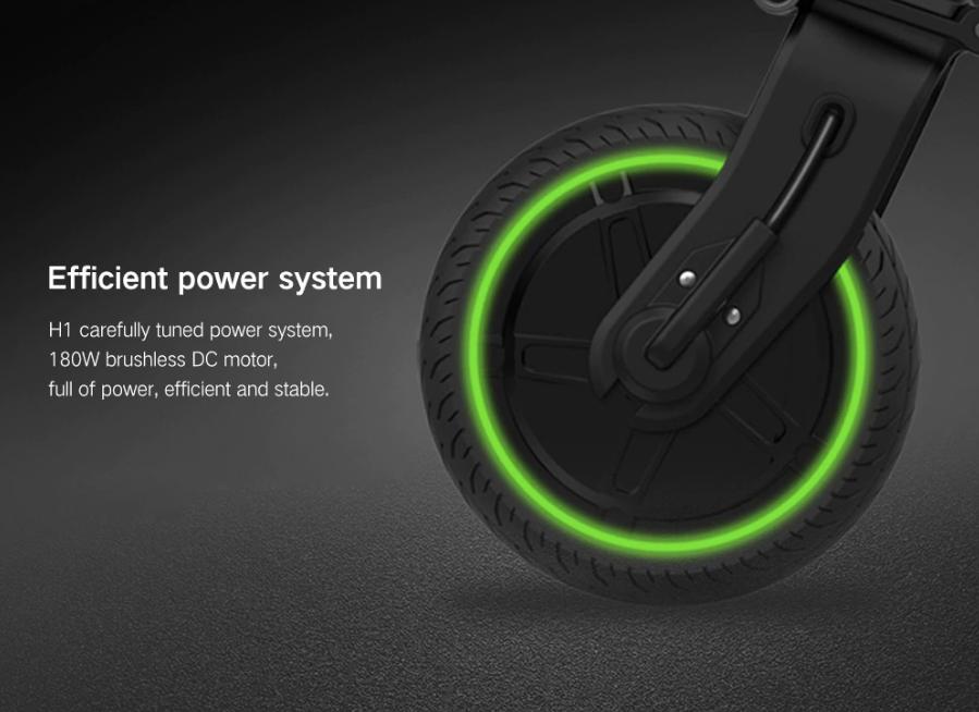 Xiaomi HIMO H1 Smart Folding Electric Bike Sistema eficiente