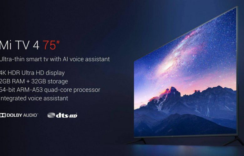 Xiaomi Mi 4 Smart TV 75 inch Destacada