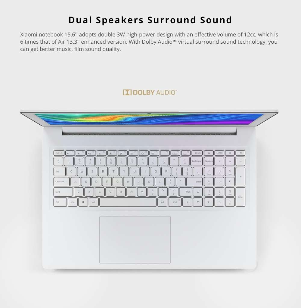Xiaomi Mi Notebook 15.6  audio