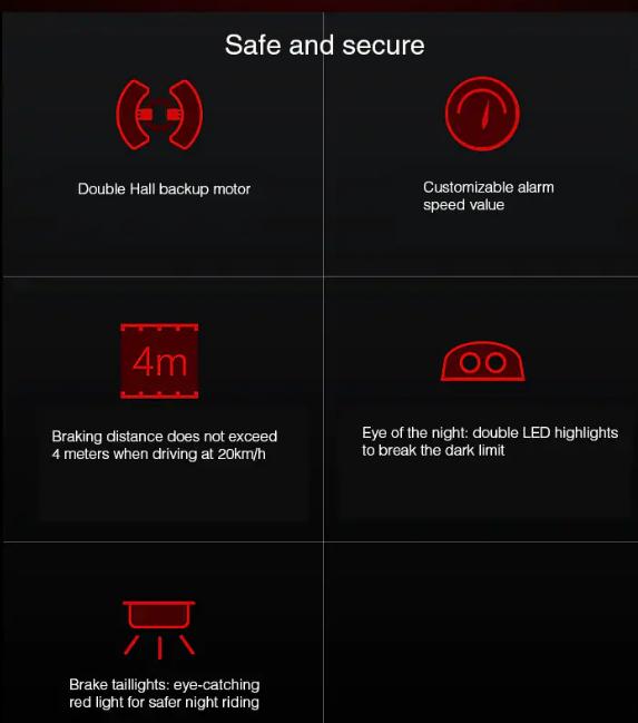 Xiaomi Ninebot One Z10 Seguridad