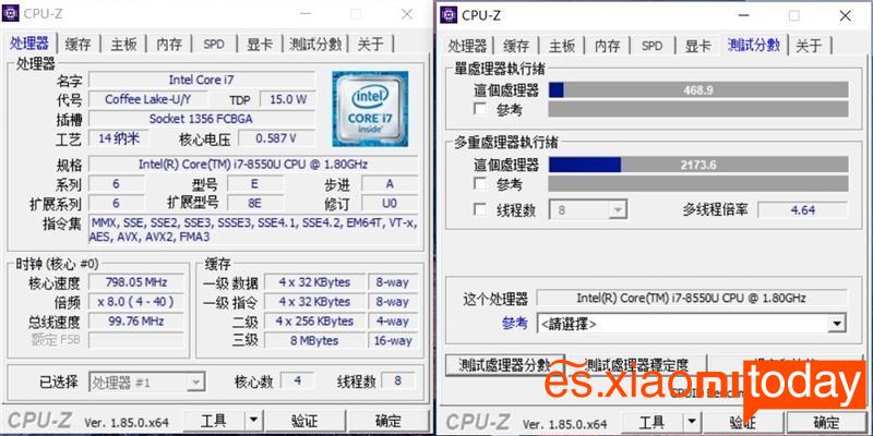 Xiaomi Notebook Pro GTX CPU-Z