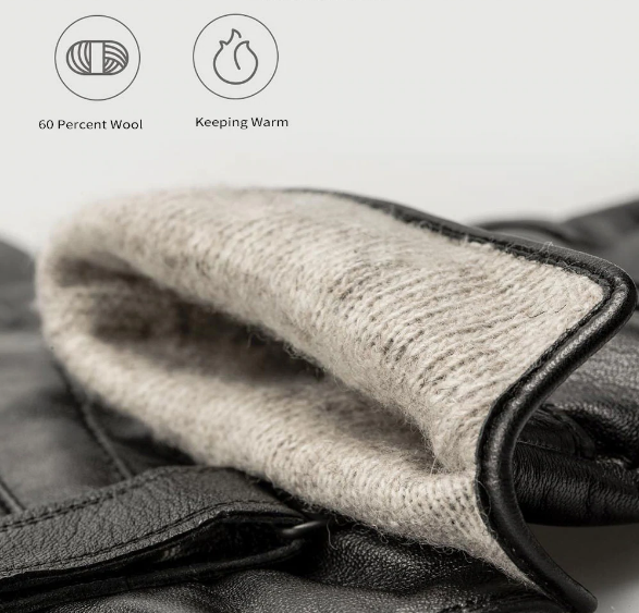 Xiaomi Touch Screen Leather Gloves Materiales