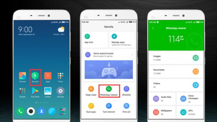 MIUI 10 presenta la nueva función de WhatsApp Cleaner