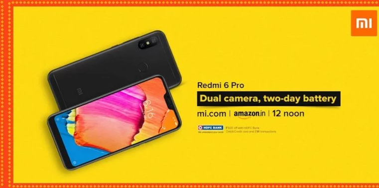El Xiaomi Redmi 6 Pro tendrá su primera venta flash en la India, y estas son sus especificaciones