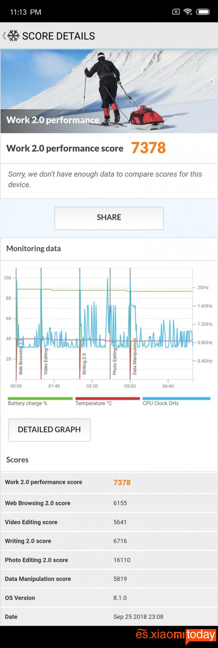 Xiaomi Mi 8 Pro: Batería