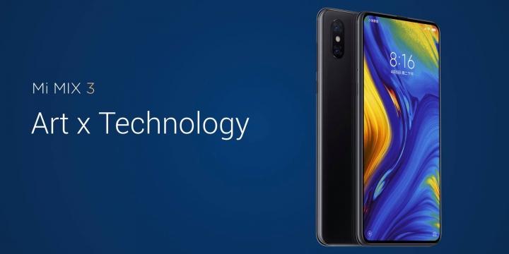 El Xiaomi Mi MIX 3 5G es presentado con pantalla completa, 4 cámaras y conectividad 5G