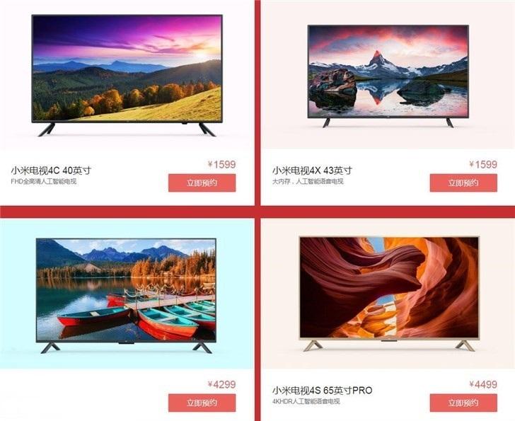 Especificaciones de estos nuevos televisores de Xiaomi