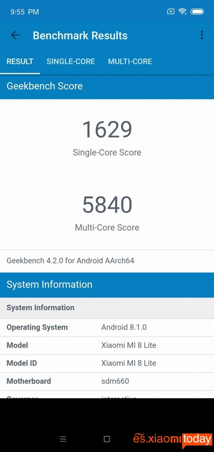 Xiaomi Mi 8 Lite Análisis - Hardware