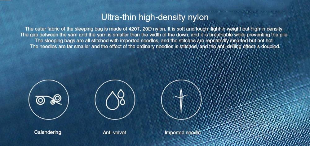 Bolsa de dormir Xiaomi Zaofeng diseño nylon