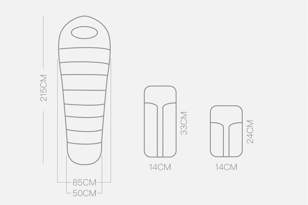 Bolsa de dormir Xiaomi Zaofeng medidas