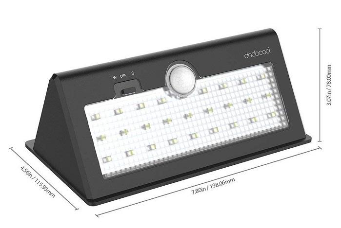 Dodocool Lámpara Solar diseño