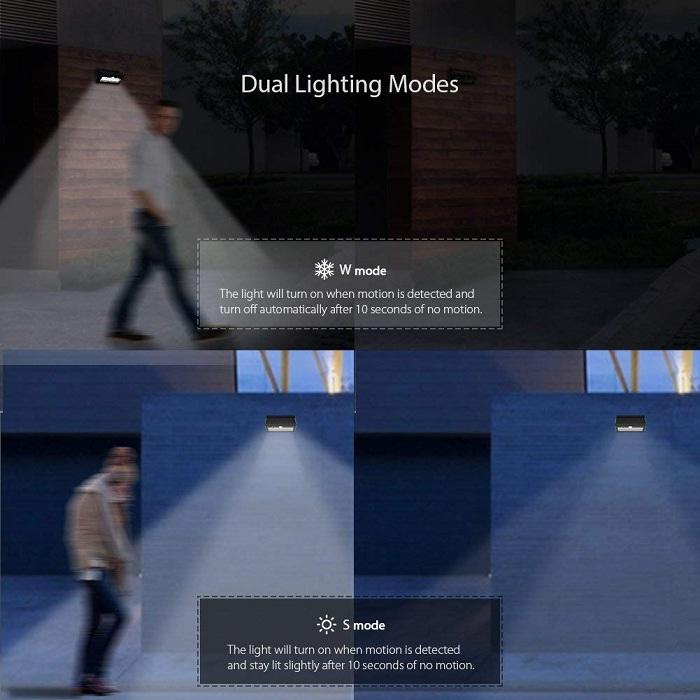 Dodocool Lámpara Solar modos de uso