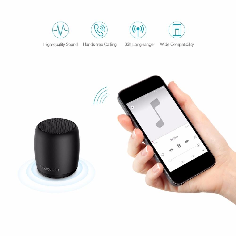 Dodocool Mini Wireless Speaker: Functions