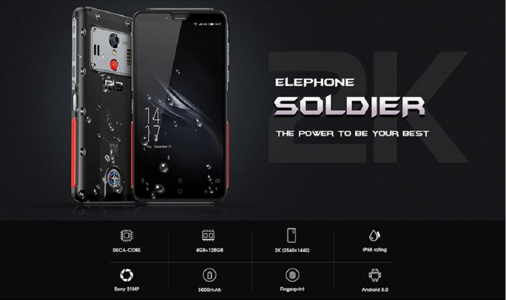 Elephone soldado destacada