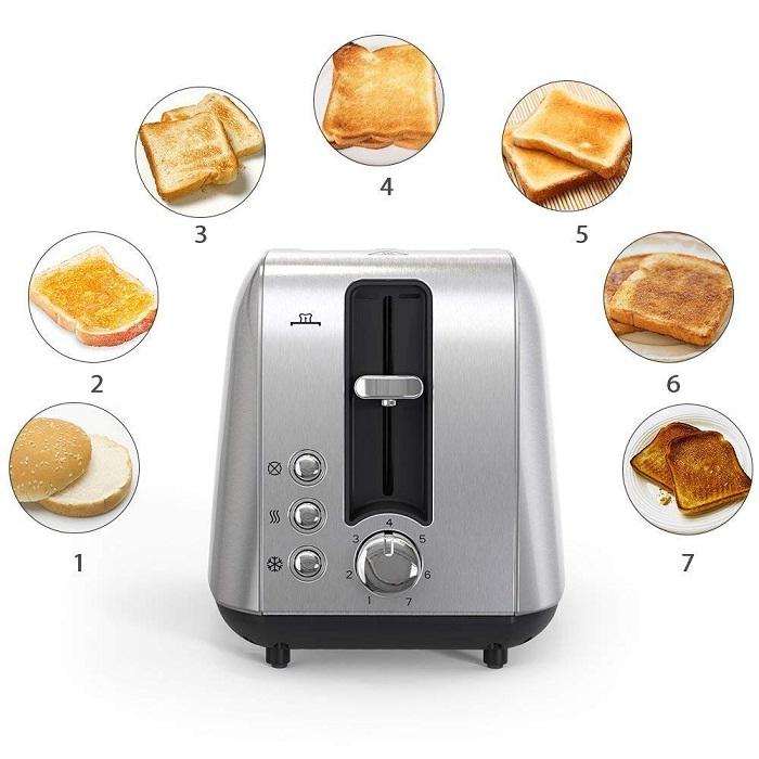 Homgeek 2 Slice Toaster: Cooking
