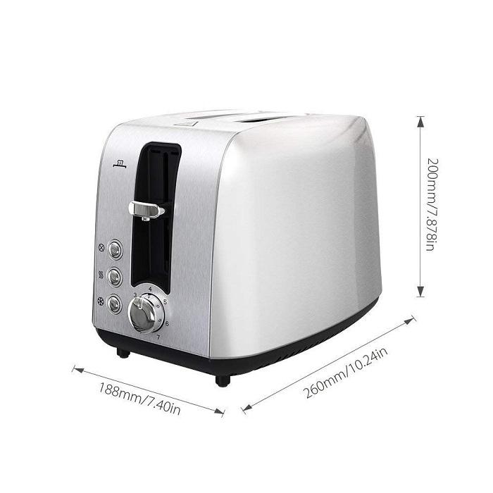 Homgeek 2 Slice Toaster: Dimensions