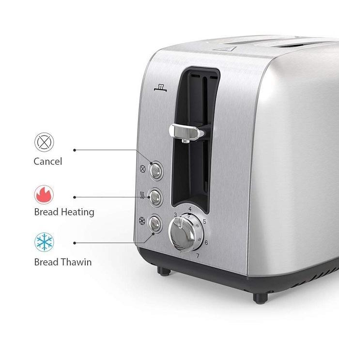 Homgeek 2 Slice Toaster: Design