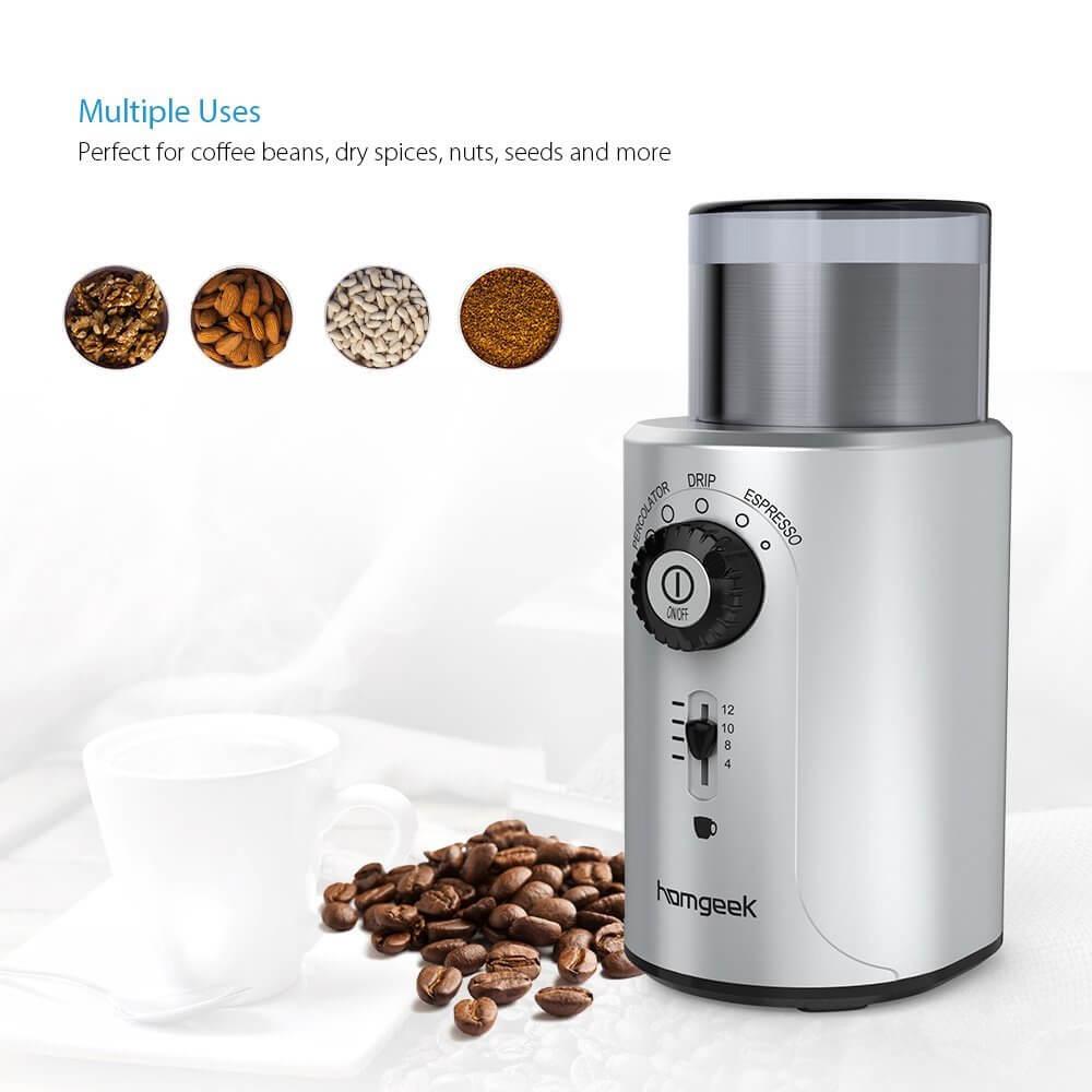 Homgeek molinillo de café eléctrico