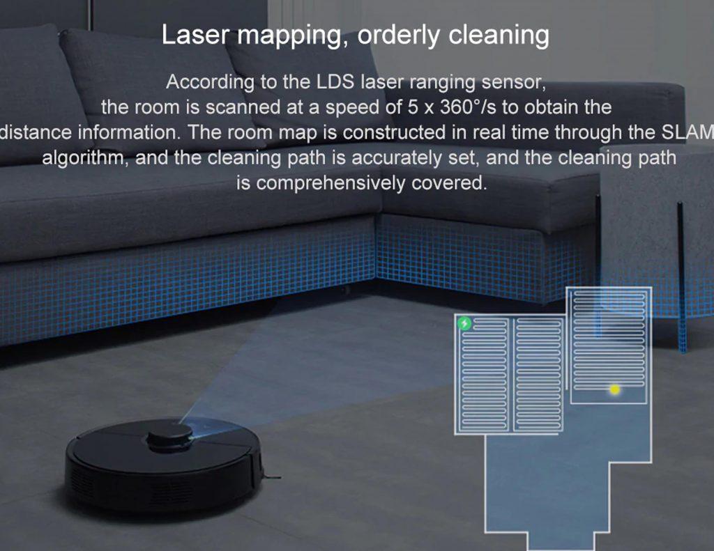 Roborock S55 sensor de distancia laser
