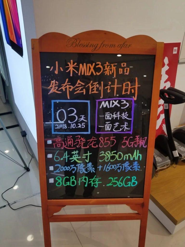 Xiaomi Mi MIX 3 filtración