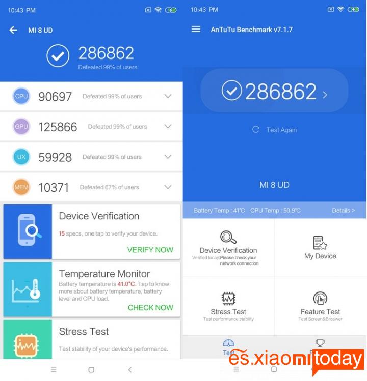 Xiaomi Mi 8 Pro: Hardware y Rendimiento