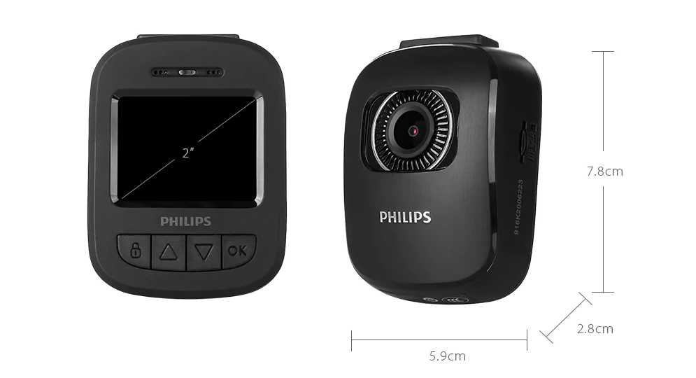 Xiaomi Philips Driving Recorder Dimensiones