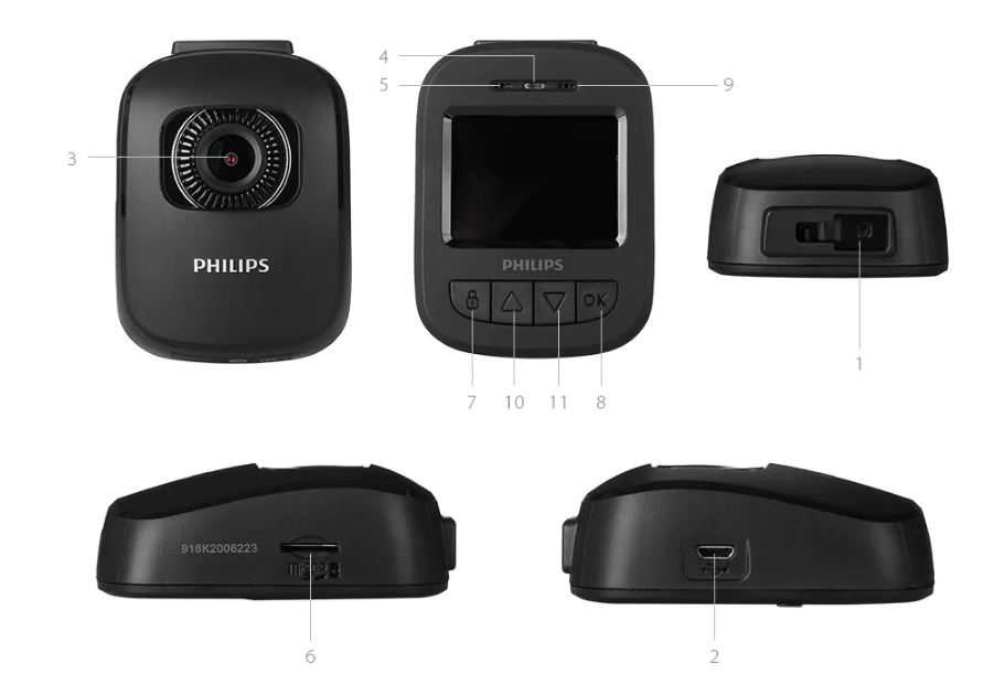 Xiaomi Philips Driving Recorder Partes