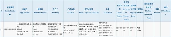 Un nuevo dispositivo de Xiaomi obtiene la certificación 3C
