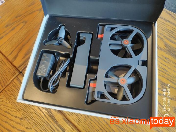 Xiaomi YoupiniDol FPV RC Drone Análisis: Contenido del paquete