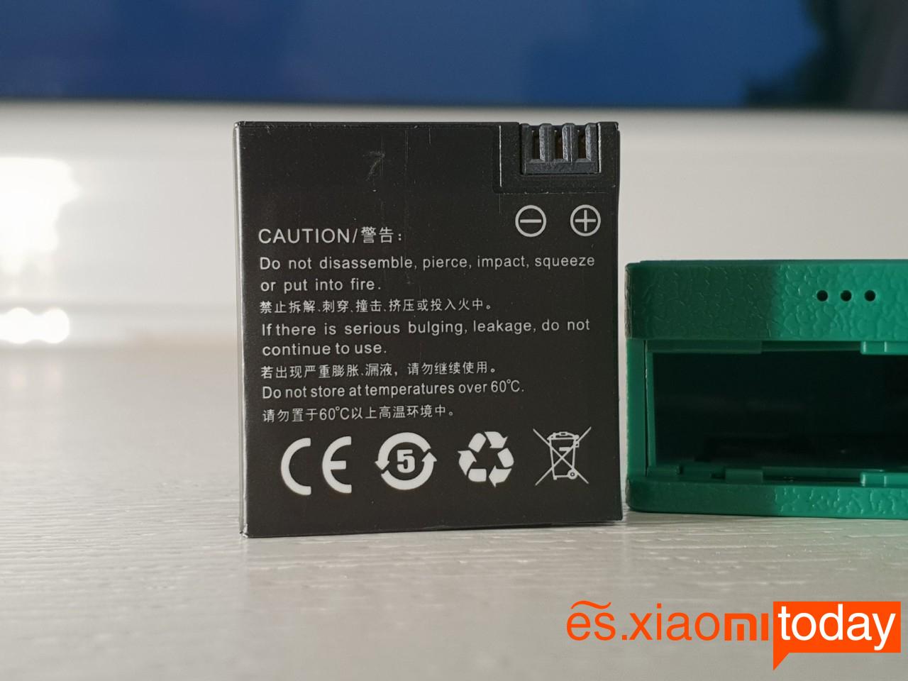 Xiaomi Seabird 4K Action Camera Análisis: Batería