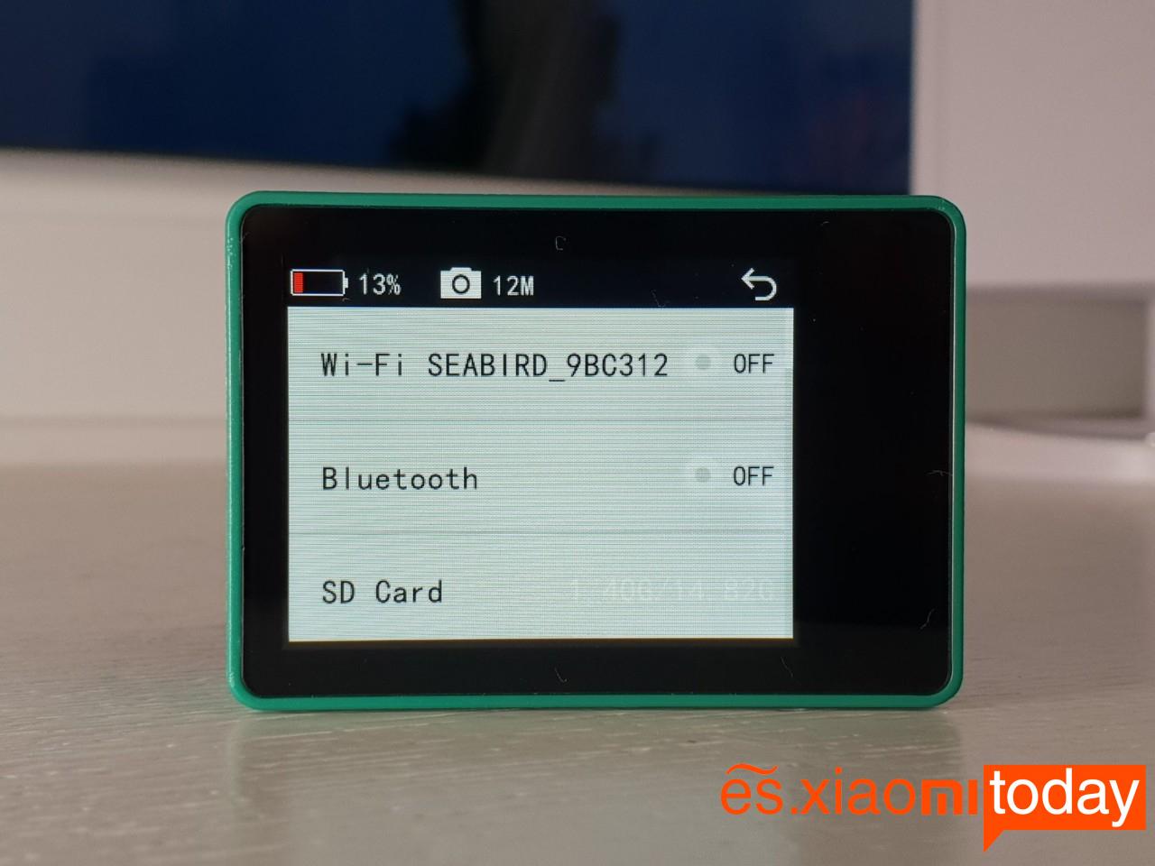 Xiaomi Seabird 4K Action Camera Análisis: Conectividades