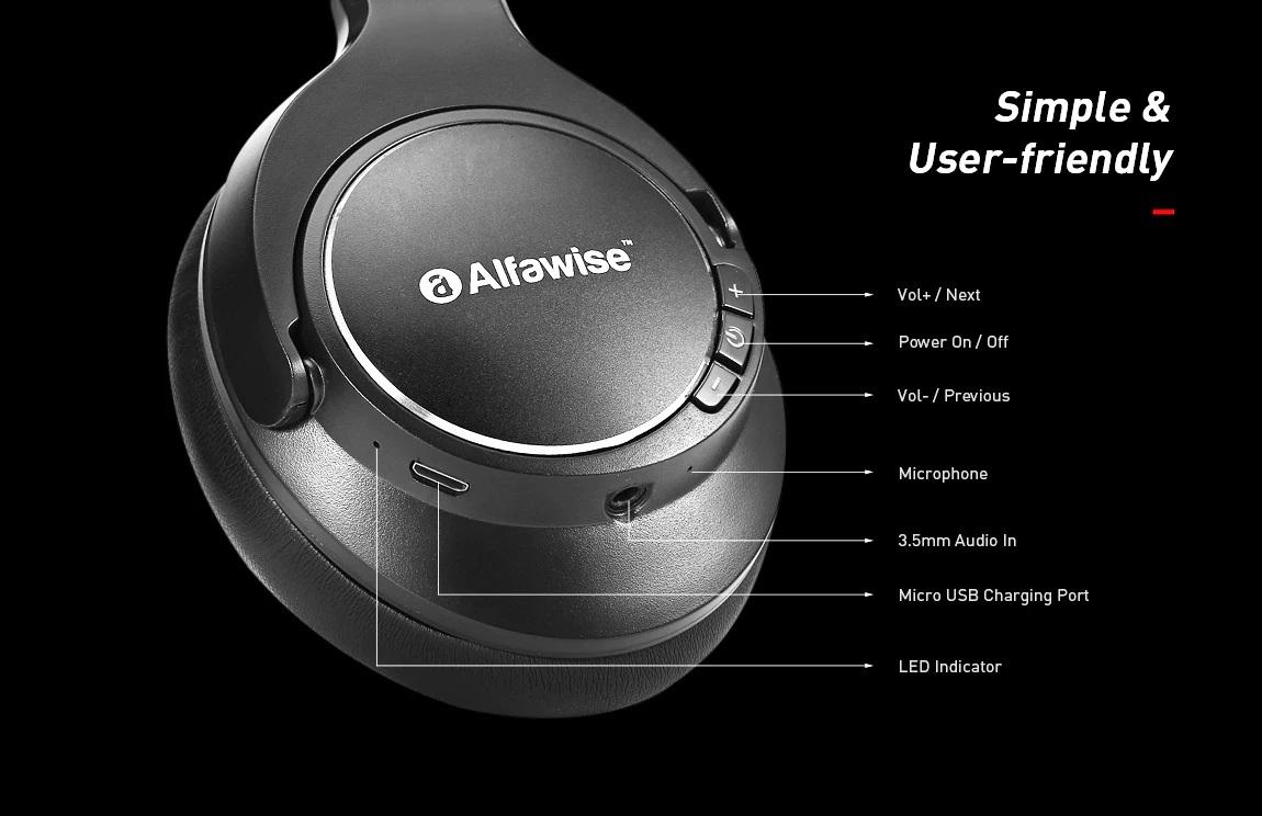 Alfawise JH-803 Bluetooth Headphones: Funciones y conectividades