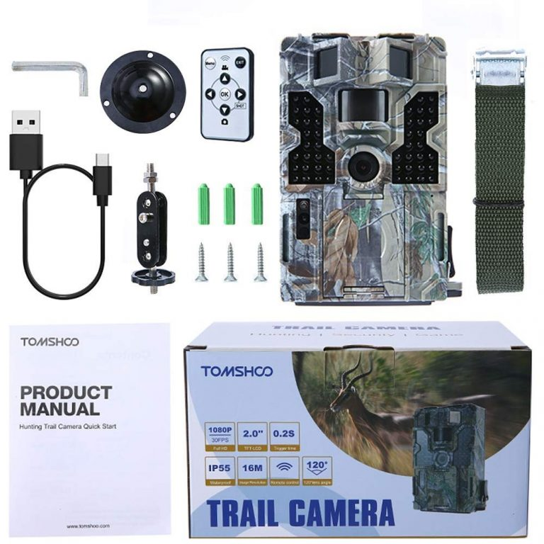 TOMSHOO Hunting Camera: Package content